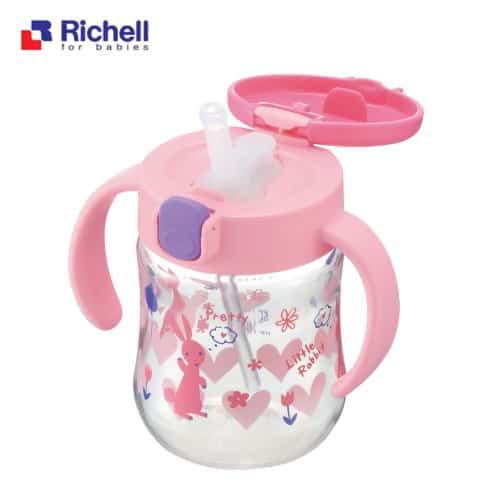 日本 Richell 利其爾 薇拉兔吸管水杯