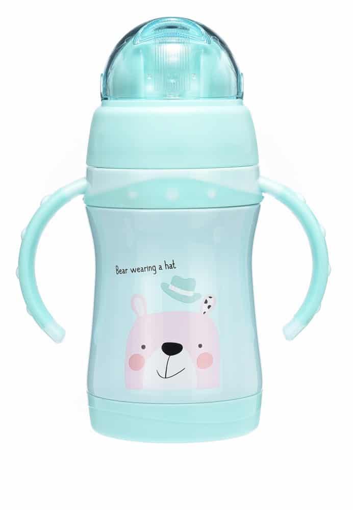 Baby talk 可愛動物不鏽鋼兩用水杯