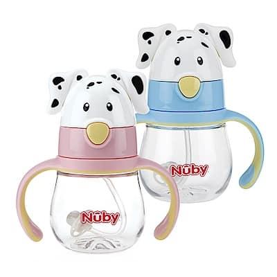 Nuby 晶透杯-大麥町狗狗造型杯360度吸管